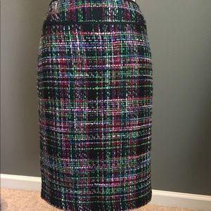 Talbots sz 4 tweed pencil skirt